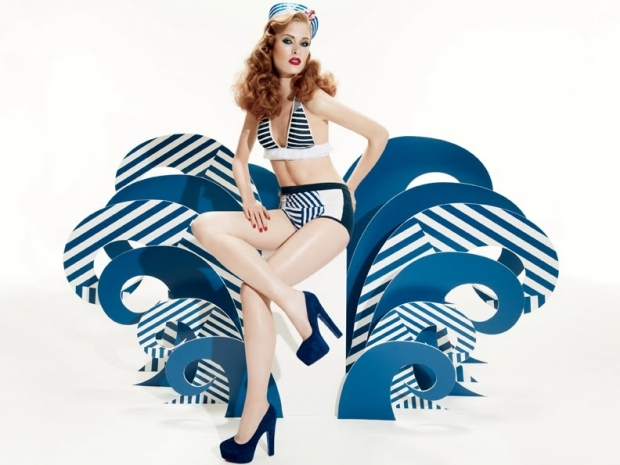 mac, navy, yatch, summer, pin up, make-up