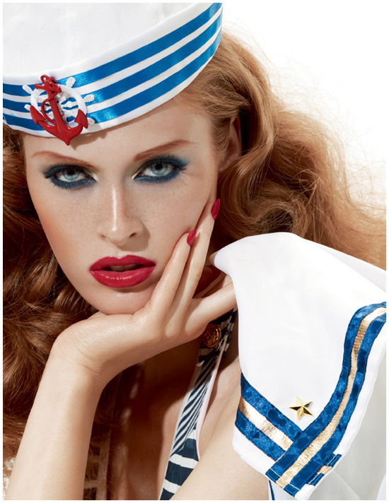MAC, make-up, navy, nautical