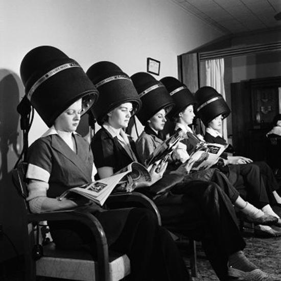 cabelo, retro, vintage, hair parlor, salão de beleza