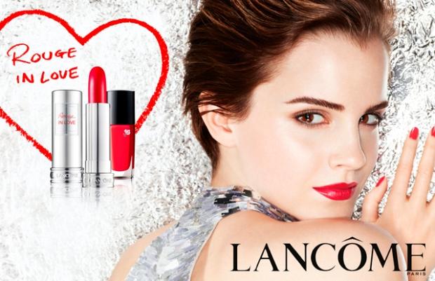 emma watson, lancome, makeup