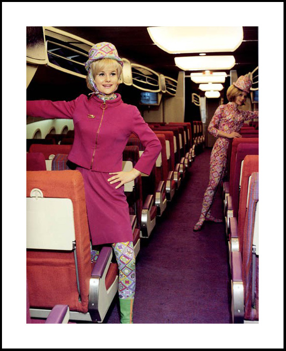 vintage, flight attendant, pucci