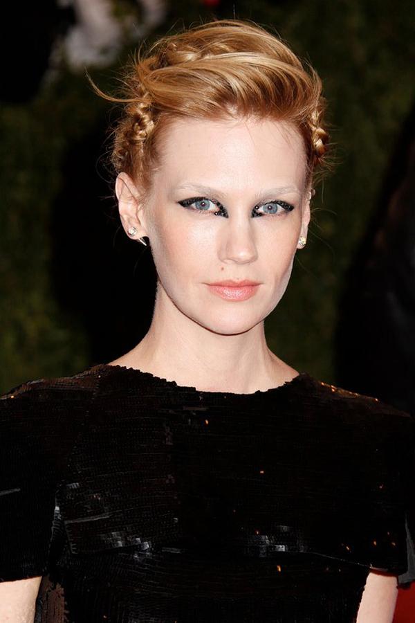 january jones bold makeup choice